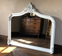 The Annecy: Large Over mantle Mirror-Pure Matt White