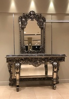 The Chantilly: Mirrored Console Table With Mirror