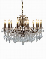 The Toulouse:Antique Gold 12 Branch Shallow Chandelier -PRICE REDUCTION TO CLEAR -NEW & BOXED