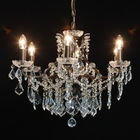 The Toulouse:Bronze 6 Branch Shallow Chandelier