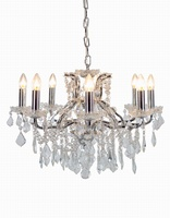 The Toulouse: Chrome 6 Branch Shallow Chandelier