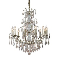 The Marseilles: Large 12 Branch Pale Gold French Chandelier