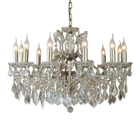 The Toulouse: Large 12 Branch Gold Shallow Chandelier