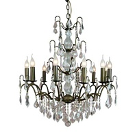 The Marseilles: Large 12 Branch Bronze French Chandelier