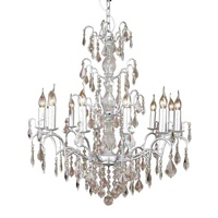 The Marseilles: Large 12 Branch Silver French Chandelier