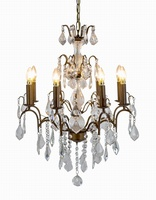 The Marseilles: 8 Branch Antique Gold French Chandelier