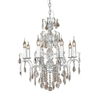 The Marseilles: 8 Branch Silver French Chandelier
