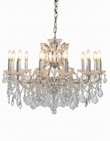 The Toulouse: Silver 12 Branch Shallow Chandelier